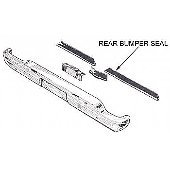 1960 1965 REAR BUMPER SEALS P314 on 1968 ford falcon parts catalog