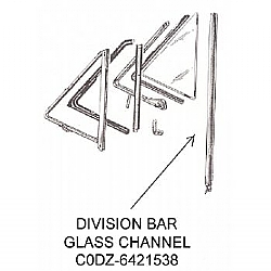 1960 1965 division bar rigid channels all models pair for General motors parts division