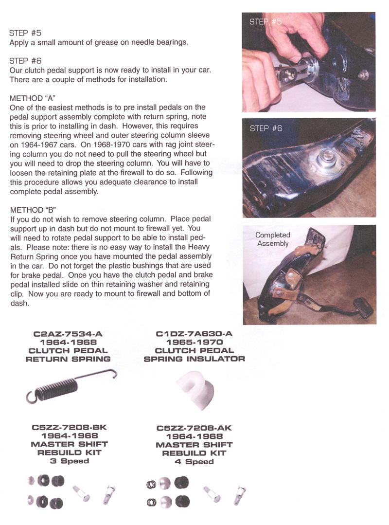 1960 1970 Clutch Pedal Roller Bearing Repair Kit